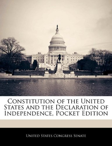 United States Congress Senate Constitution Of The United States And The Declarat Pocket