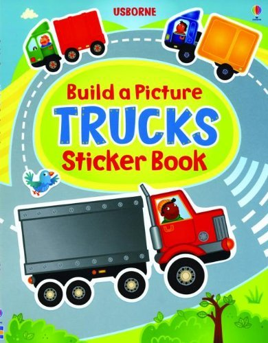 Felicity Brooks Build A Picture Sticker Trucks New