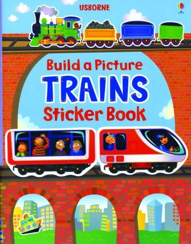 Felicity Brooks Build A Picture Sticker Trains New