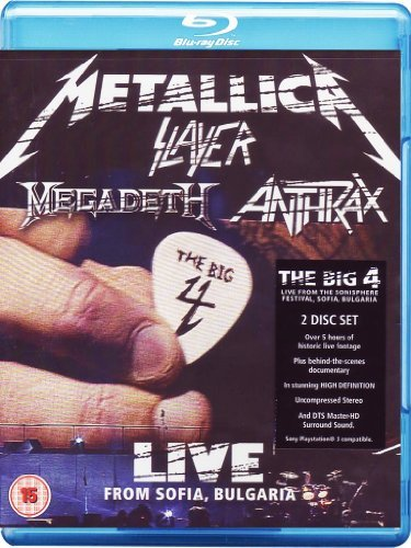 Metallica Slayer Anthrax Megad Big Four Live From Sophia Bul Import Eu