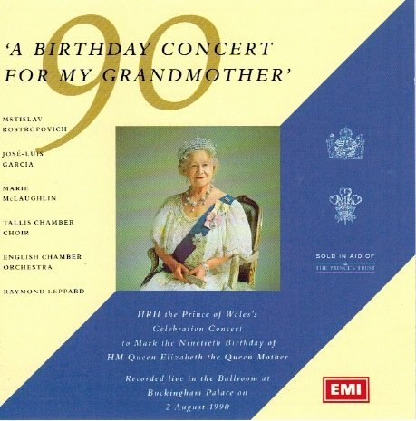 Raymond Leppard English Chamber Orchestra Rostropo Birthday Concert For My Grandmother