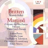 Britten Martinu Works For 2 Pianos