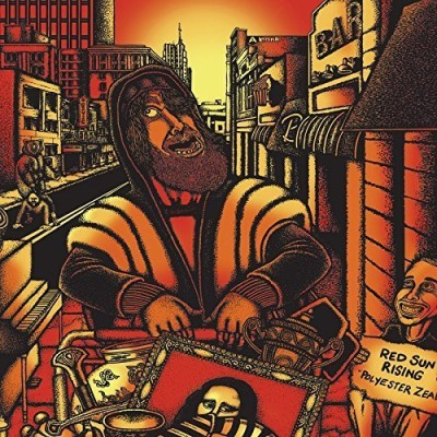 Red Sun Rising Polyester Zeal (orange Black Swirl Vinyl)