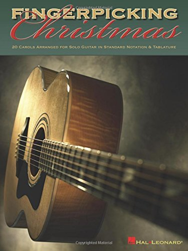 Hal Leonard Corp Fingerpicking Christmas 20 Carols Arranged For Solo Guitar In Notes & Tab