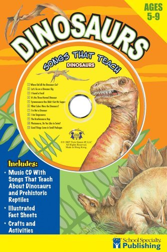 Kim Mitzo Thompson Dinosaurs Sing Along Activity Book With CD Songs That Teach Dinosaurs