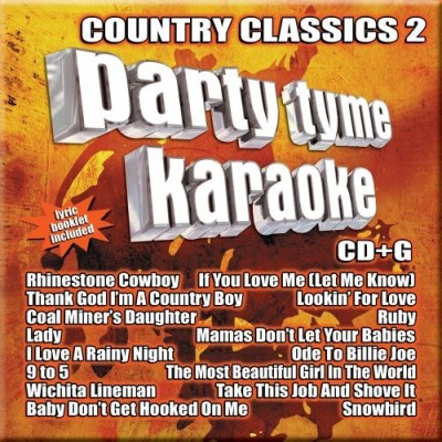 Party Tyme Karaoke Vol. 2 Country Classics Karaoke Incl. Cdg 16 Song