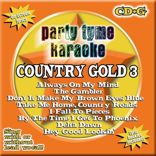 Party Tyme Karaoke Vol. 3 Country Gold Karaoke Incl. Cdg 8+8 Song