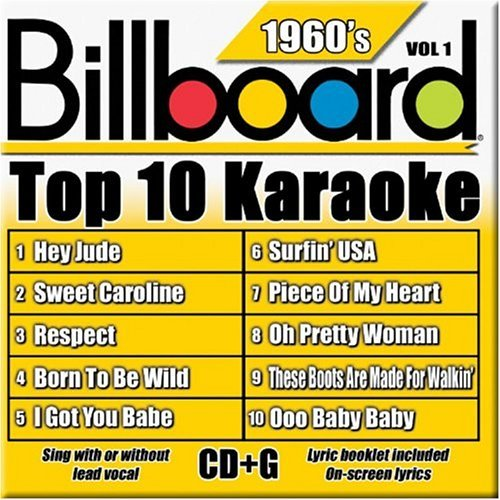 Billboard Top 10 Karaoke Vol. 1 60's Billboard Top 10 K Karaoke Incl. Cdg 10+10 Song