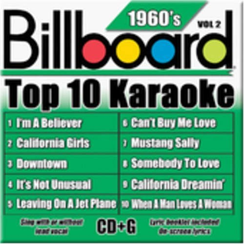 Billboard Top 10 Karaoke Vol. 2 60's Billboard Top 10 K Karaoke Incl. Cdg 10+10 Song