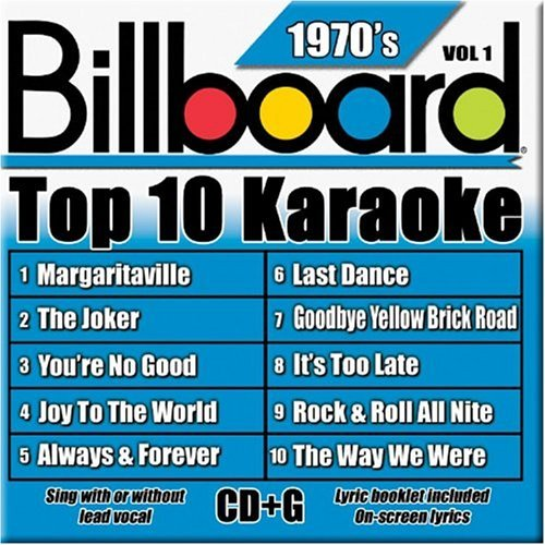 Billboard Top 10 Karaoke Vol. 1 70's Billboard Top 10 K Karaoke Incl. Cdg 10+10 Song