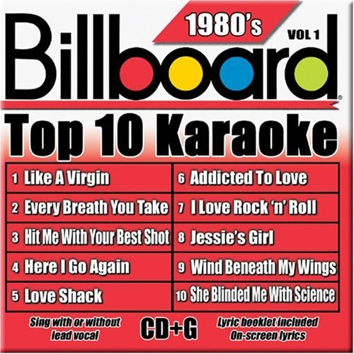 Billboard Top 10 Karaoke Vol. 1 80's Billboard Top 10 K Karaoke Incl. Cdg 10+10 Song