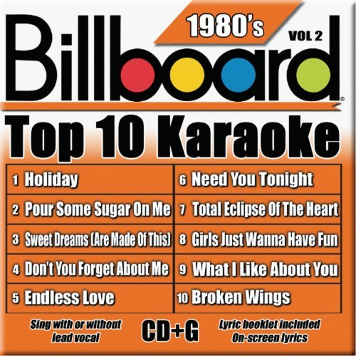 Billboard Top 10 Karaoke Vol. 2 80's Billboard Top 10 K Karaoke Incl. Cdg 10+10 Song