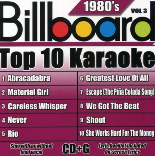 Billboard Top 10 Karaoke Vol. 3 80's Billboard Top 10 K Karaoke Incl. Cdg 10+10 Song
