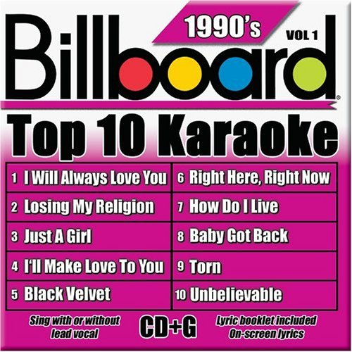Billboard Top 10 Karaoke Vol. 1 90's Billboard Top 10 K Karaoke Incl. Cdg 10+10 Song