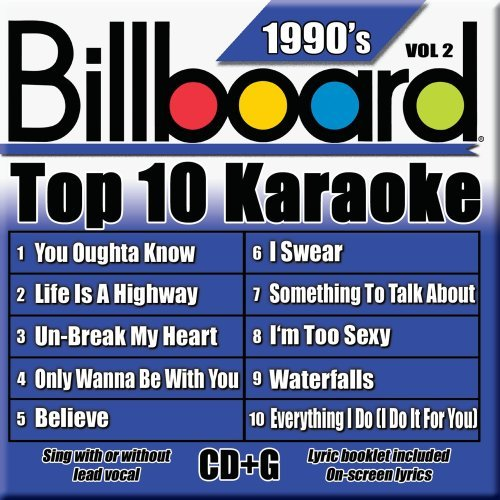 Billboard Top 10 Karaoke Vol. 2 90's Billboard Top 10 K Karaoke Incl. Cdg 10+10 Song