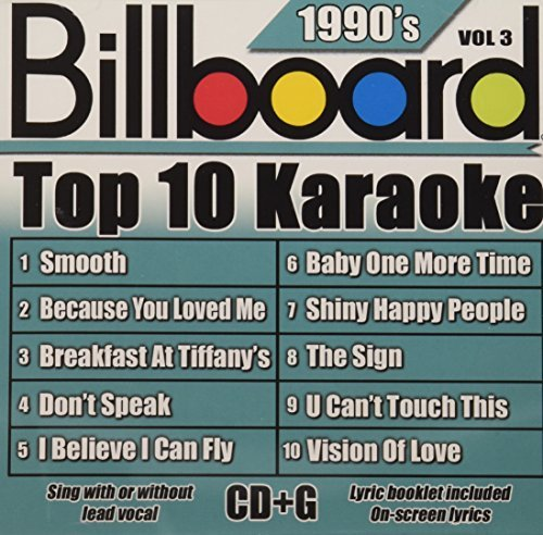 Billboard Top 10 Karaoke Vol. 3 90's Billboard Top 10 K Karaoke Incl. Cdg 10+10 Song