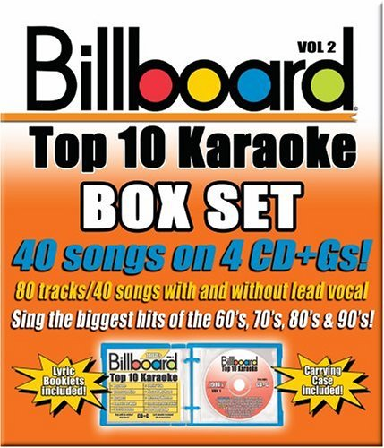 Billboard Top 40 Karaoke Vol. 2 Billboard Top 40 Karaok Karaoke Incl Cdg 4 CD 40+40 Song