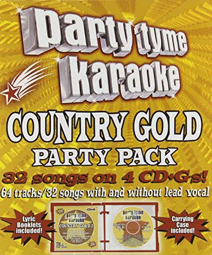 Party Tyme Karaoke Country Gold Party Pack Karaoke Incl. Cdg 4 CD 32+32 Song
