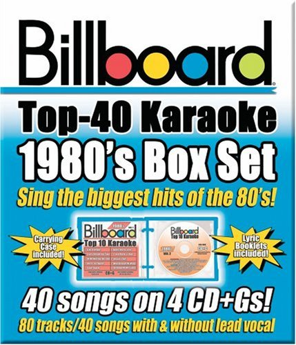 Billboard Top 40 Karaoke Billboard 1980's Top 40 Karaok Karaoke Incl Cdg 4 CD 40+40 Song