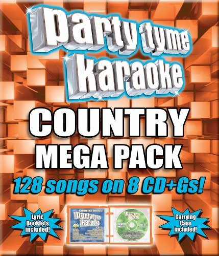 Party Tyme Karaoke Country Mega Pack Karaoke Incl. Cdg 8 CD 128 Song