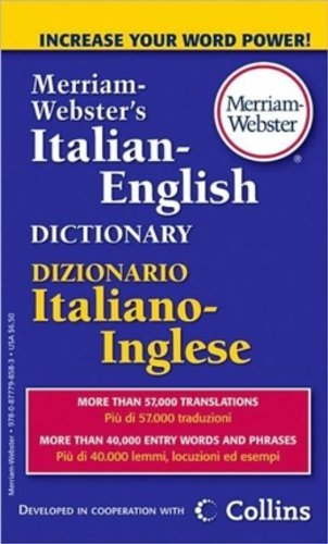 Merriam Webster Merriam Webster's Italian English Dictionary