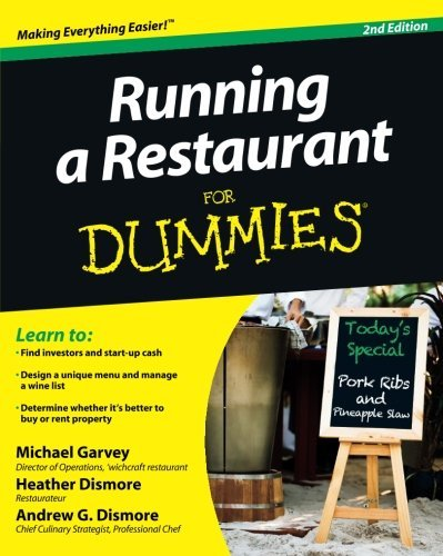 Michael Garvey Running A Restaurant For Dummies 0002 Edition;