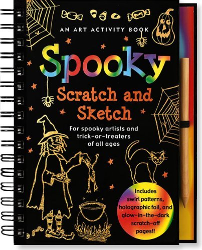 Martha Day Zschock Heather Zschock Spooky Scratch And Sketch An Activity Book For Sp