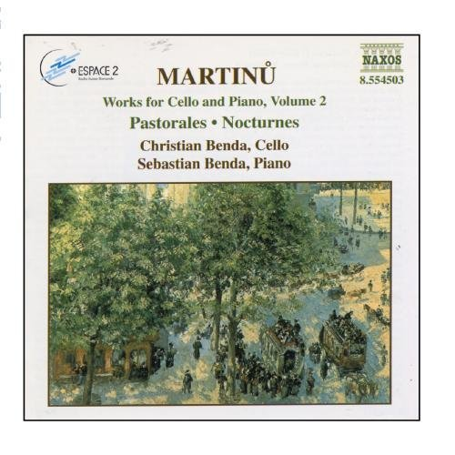 B. Martinu Works Vc Pno Vol. 2 Benda*christina & Sebastion