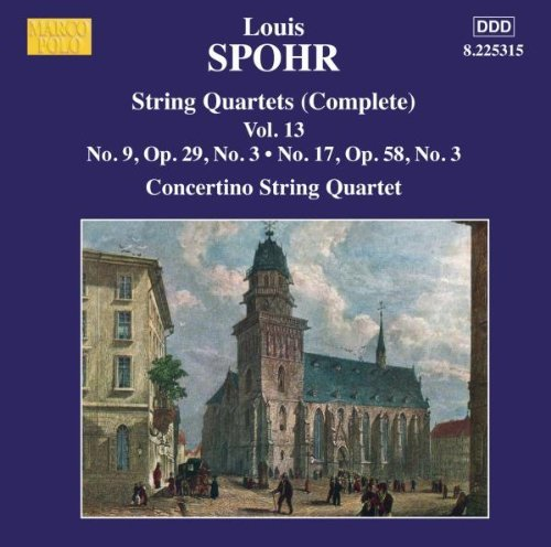 L. Spohr Str Qts (complete) Vol. 13 Moscow Philharmonic Concertino