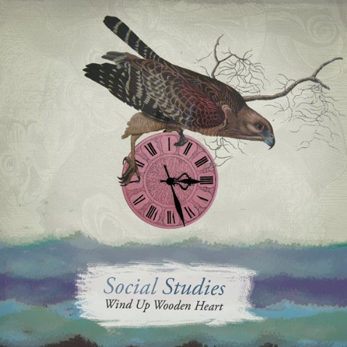 Social Studies Wind Up Wooden Heart