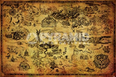 Poster Legend Of Zelda Hyrule Map