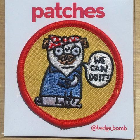 Patch We Can Do It Pug