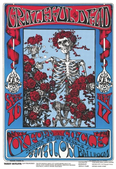 Poster Grateful Dead Skeleton & Roses