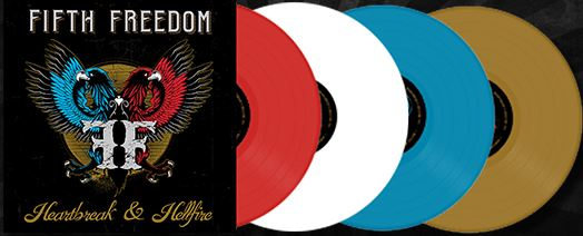 Fifth Freedom Heartbreak & Hellfire (random Colored Vinyl) Ltd To 300 Copies Vinyl Colors Match The Colors On The Cover