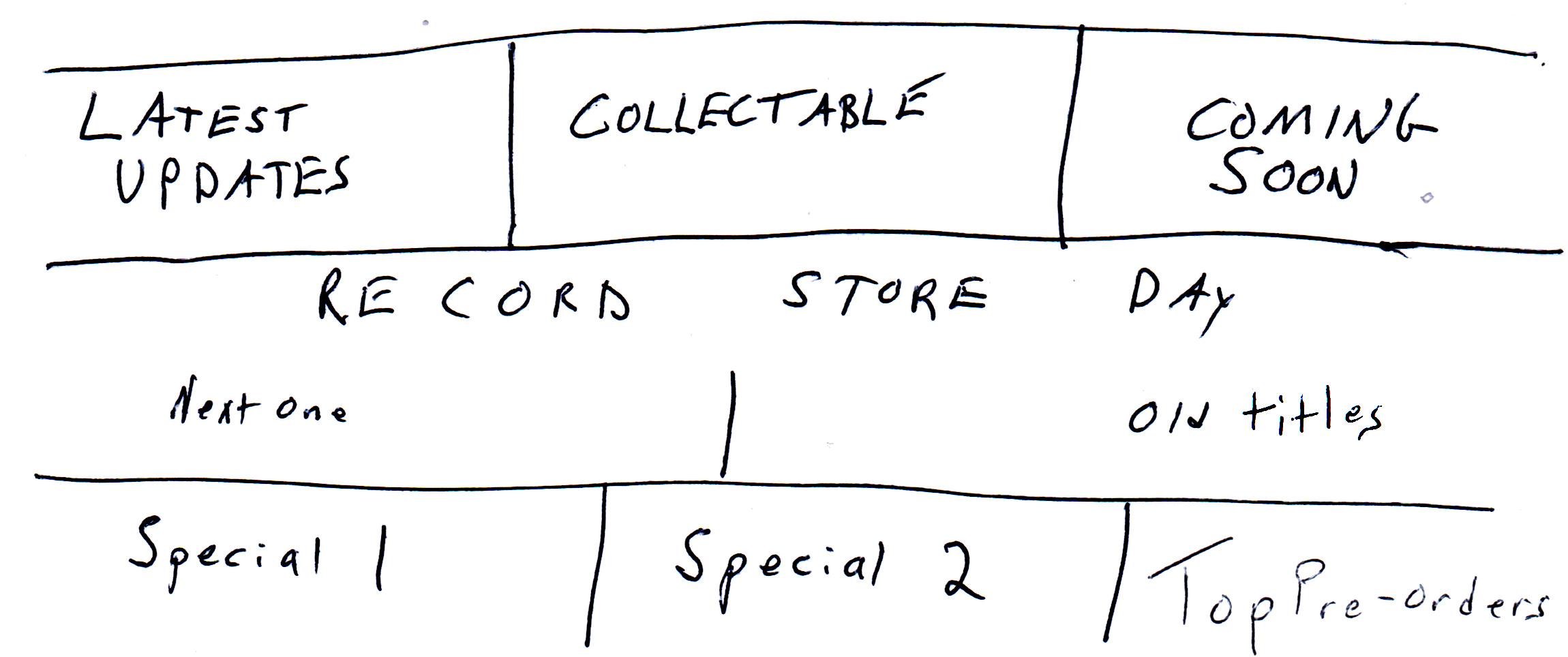 Vinyl menu