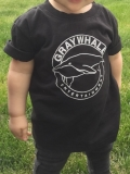 Graywhale T Shirt Circle Logo Black 2t