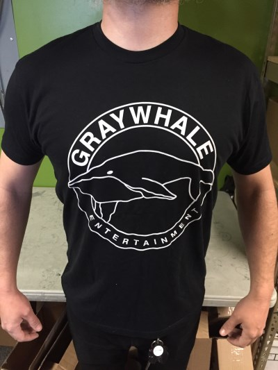 Graywhale T Shirt Circle Logo Black Medium Black Medium