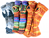 Gloves Nepal Wool Lined Hand Warmers