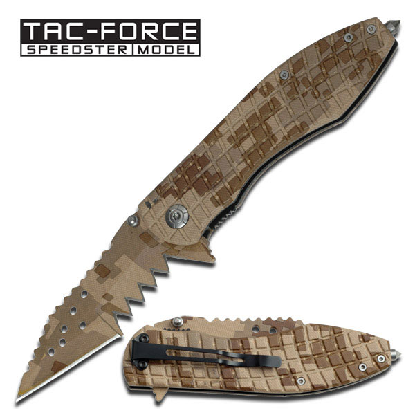 "Knife 5"" Shar Fldr All Desert Camo"