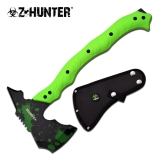 "Axe 14.5"" Green Splatter Green Handle"