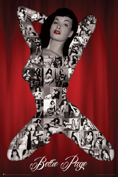 Poster Bettie Page S&m