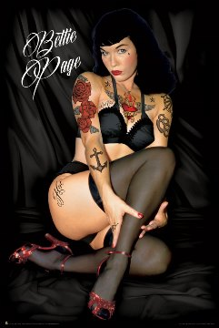 Poster Bettie Page Tattoos