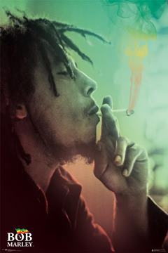 Poster Bob Marley Smoking Lights