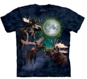 Three Moose Moon Small