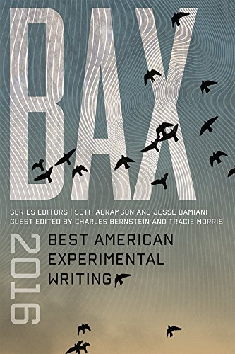 Seth Abramson Bax 2016 Best American Experimental Writing