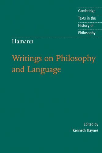 Kenneth Haynes Hamann Writings On Philosophy And Language