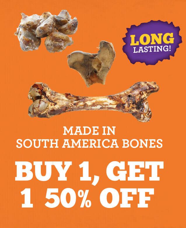 Buy one, get one half off Made in South America Bones