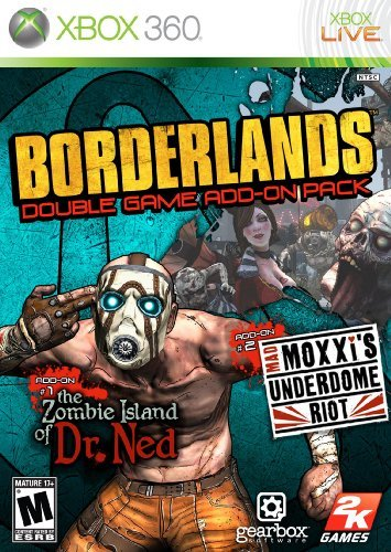 Xbox 360 Borderlands Add On Pack Zombie Island Of Dr Ned & Mad Moxxi's Underdome R