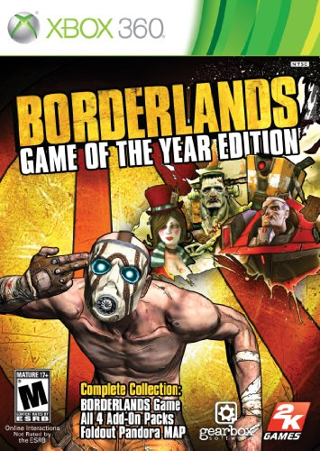 Xbox 360 Borderlands Game Of The Year Take Two Interactive Software M