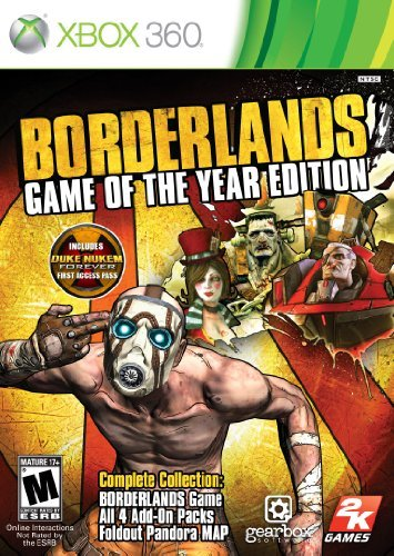 Xbox 360 Borderlands Game Of The Year